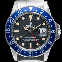 "Rolex 1675 GMT Master ""Blueberry"" MKII SS FULL SET / Punched..."