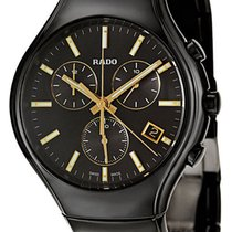 38db7da0c4bb Rado R5.5 Chronograph Square Black Ceramic Mens Watch Date... for ...