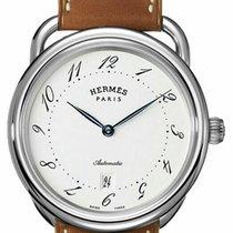 4b66eb3132d48 Hermès Arceau Steel 41mm White. TOP. Hermès Arceau Automatic TGM 41mm Men s  Leather Strap Watch.