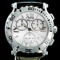Chopard Happy Sport Acier 42mm Blanc Romain