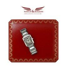 Cartier Tank Française Steel 25mm White Roman numerals