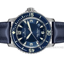 Blancpain new Automatic Display back Luminous numerals Luminous hands Luminous indices 45mm Titanium Sapphire crystal