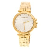 Nina Ricci Gold/Steel Quartz Nina Ricci Silver Gold-Plated Stainless Steel new