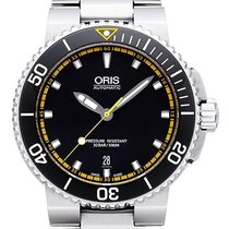 Oris Steel Automatic Black 43mm new Aquis Date