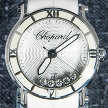Chopard Steel Quartz Silver No numerals 42mm pre-owned Happy Sport