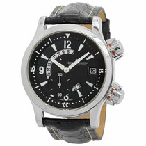 Jaeger-LeCoultre Master Compressor (submodel) pre-owned 41.5mm Date GMT Leather