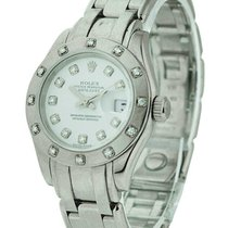 Rolex Used 80319 Ladies White Gold Masterpiece - 12 Diamond...