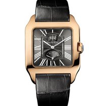 Cartier Santos Dumont Gray Galvanized Flinque 18K Solid Rose Gold