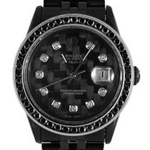Rolex Used 1600_pvd Oyster Perpetual DateJust - Black Diamond...