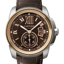 Cartier W7100051 Calibre de Cartier in Steel with 18KT Rose...