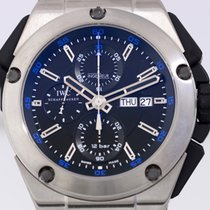 IWC Ingenieur Double Chronograph Titanium Titanium 45mm Black No numerals