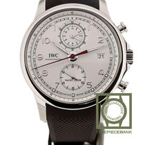 IWC Portuguese Yacht Club Chronograph Staal 43.5mm Zilver Arabisch