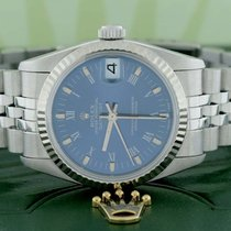 Rolex Datejust Midsize Gold Fluted Bezel Blue Roman Jubilee...