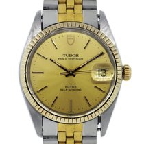 Tudor Rolex  Oyster Date Prince 75203 Two Tone Quickset Mens...