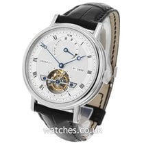 Breguet Platinum Automatic Silver Roman numerals 39mm pre-owned Classique Complications