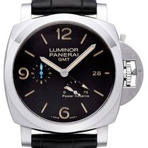 Panerai Luminor 1950 3 Days GMT Power Reserve Automatic Stahl 44mm Schwarz Arabisch Deutschland, Bietigheim-Bissingen