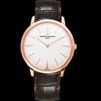 Vacheron Constantin Patrimony White 18k Pink Gold/Leather 40mm...