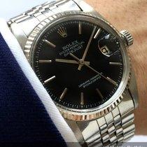 Rolex Serviced Datejust Automatic Automatik black dial Vintage