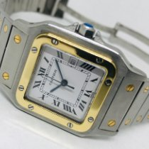 Cartier Santos Galbée tweedehands 24mm Goud/Staal