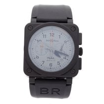 Bell & Ross Ceramic Automatic Grey Arabic numerals 42mm pre-owned BR 03-94 Chronographe