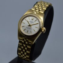 Rolex 67198 Gelbgold 1986 Oyster Perpetual 26mm gebraucht