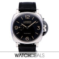 Panerai Luminor Due Aço 45mm Preto Árabes