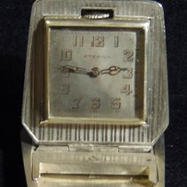 Eterna Silver Manual winding Silver Arabic numerals 42mm pre-owned