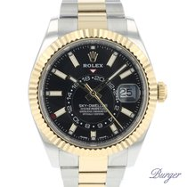 Rolex Sky-Dweller Gold/Steel 42mm Black
