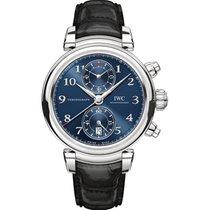 IWC Da Vinci Chronograph Acier 42mm Bleu Arabes