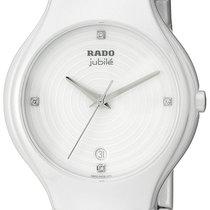 Rado True Jubile White Ceramic Womens Watch Calendar Quartz...