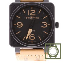Bell & Ross BR01-92-HERITAGE Black Dial Tan Leather BR0192-HER...