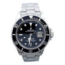 Rolex Submariner Date 16800 Stainless Steel 40mm Black...