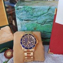 Rolex 16808 Or jaune Submariner Date