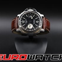Panerai Luminor GMT Automatic occasion 44mm Noir Date GMT Cuir