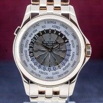 Patek Philippe World Time Złoto różowe 39mm Srebrny