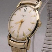 Elgin pre-owned Manual winding 32mm White Not water resistant