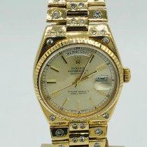 Rolex Day-Date Oysterquartz Yellow gold 36mm Champagne No numerals United Kingdom, romford