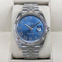 Rolex Datejust Stahl 41mm Blau Keine Ziffern Österreich, Wien