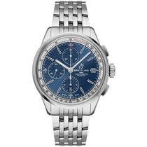 Breitling Steel 42mm Blue No numerals United States of America, New York, New York