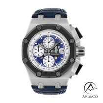 Audemars Piguet Royal Oak Offshore Chronograph Platinum 44mm Blue No numerals United States of America, New York, New York