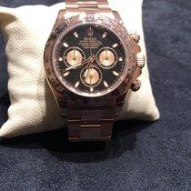 Rolex Or rose Remontage automatique Noir Sans chiffres 40mm occasion Daytona