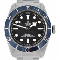 Tudor Heritage Black Bay Blue Disc Rivet Steel Bracelet...