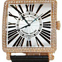 Franck Muller Master Square Quartz Red Gold Diamond Watch
