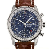 Breitling Navitimer World 46 Chronograph Blue Dial Brown...