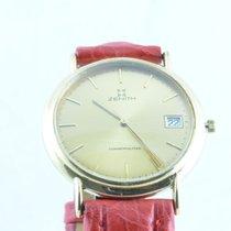 제니트 (Zenith) Herren Uhr 34mm Stahl Vergoldet Vintage Rar