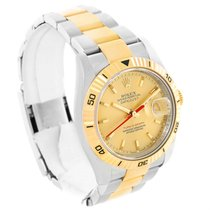 Rolex Datejust Turnograph Steel 18k Yellow Gold Mens Watch 116263
