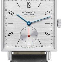 NOMOS Tetra Neomatik Steel 33mm Silver Arabic numerals