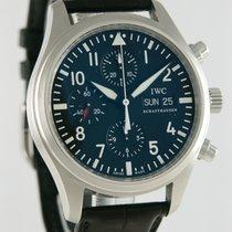 IWC Pilot Chronograph Steel 42mm Black Arabic numerals