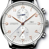 IWC Portuguese Chronograph Çelik 41mm Gümüş Arapça