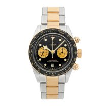 Tudor Black Bay Chrono pre-owned 41mm Black Chronograph Date Tachymeter Fold clasp